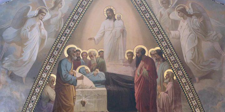 Чин погребения Богородицы и Крестный ход в праздник Успения в пгт.Молодежное